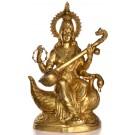 Saraswati Statue 74 cm brass