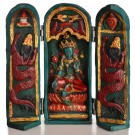 Buddha Box 20 cm Green Tara turquoise paintes