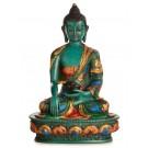 Akshobhya 20 cm Buddha Statue turquoise Resin painted