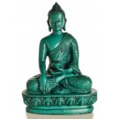 Akshobhya 13,5 cm Buddha Statue Resin turquoise