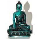 Akshobhya 11 cm Buddha Statue Resin turquoise