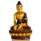 Akshobhya 11,5 cm Buddha Statue Resin golden