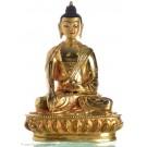 Akshobhya 15 cm fully fire gilded Buddha Statue