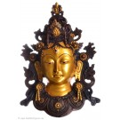 Tara Mask 34 cm Resin golden
