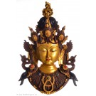 Tara Mask 43 cm Resin golden