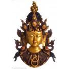 Tara Mask 43 cm Resin golden