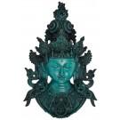 Tara Mask 43 cm Resin turquoise