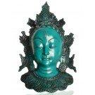 Tara Mask 29 cm Resin turquoise