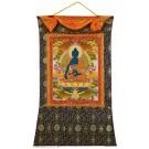 Thangka Medicine Buddha Fine Quality 94 x 145 cm