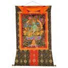Thangka - Green Tara 97 cm x 125 cm