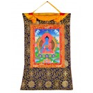 Thangka Medicine Buddha  72 x 112 cm