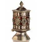 Table Prayer wheel 18 cm silvern