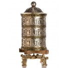 Table Prayer Wheel 35 cm Silver