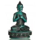 Vairocana Buddha Statue 19 cm Resin turquoise