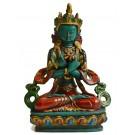 Vajradhara 15,5 cm Buddha Statue Resin turquoise