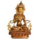 Vajrasattva 21 cm partly fire-gilded Buddha Statue