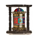 Wall Prayer wheel copper  44 cm