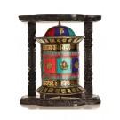 Wall Prayer wheel copper  44 cm