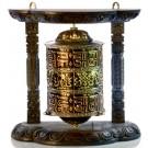 Wall Prayer wheel copper - 25 cm