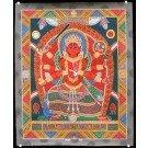 Newari Thangka -  Kumar - Kartikeya  ca. 45 cm x 55 cm
