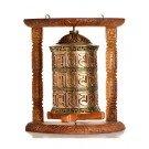Wall Prayer wheel copper 33 cm
