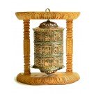 Wall Prayer wheel copper - 20 cm