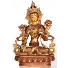 White Tara 22 cm partly fire-gilded SALE