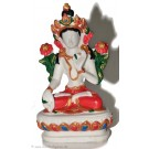 White Tara 10 cm Statue Resin white painted