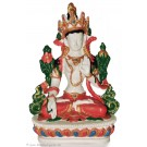 White Tara 15,5 cm Statue Resin white painted