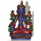 White Tara 20 cm Statue Resin blue painted