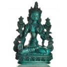 White Tara 20 cm Statue Resin turquoise