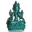 White Tara 15,5 cm Statue Resin turquoise